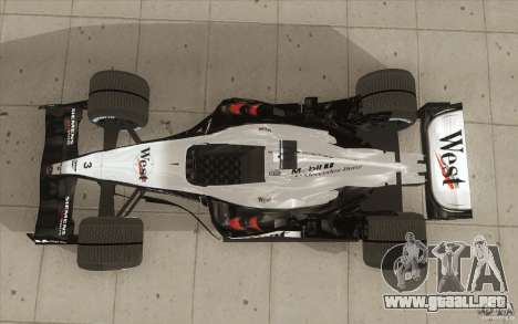 McLaren Mercedes MP 4-19 para la visión correcta GTA San Andreas