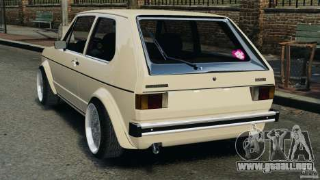 Volkswagen Golf Mk1 Stance para GTA 4 Vista posterior izquierda