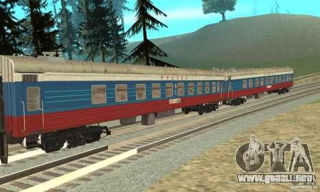 El coche de los ferrocarriles rusos Rusia para GTA San Andreas left
