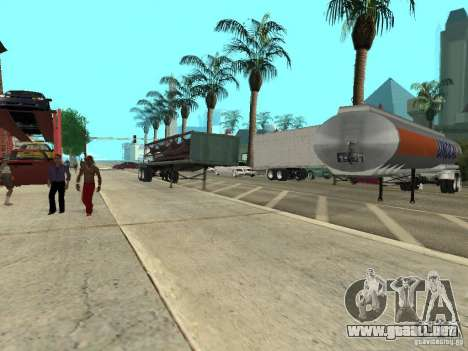 American Trailers Pack para GTA San Andreas vista hacia atrás