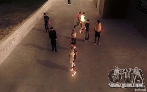 Sombras mais fortes em pedestres para GTA San Andreas séptima pantalla