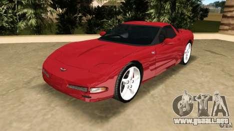 Chevrolet Corvette Z05 para GTA Vice City vista posterior