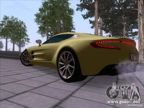 Aston Martin One-77 2010 para GTA San Andreas left