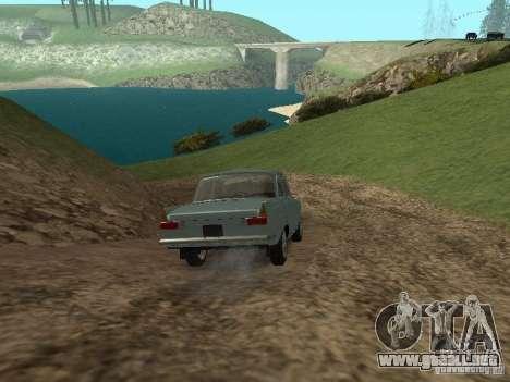 IZH 412 Moskvich para visión interna GTA San Andreas