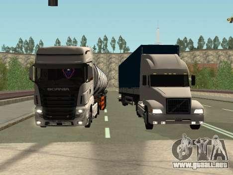 Volvo VNL para vista lateral GTA San Andreas