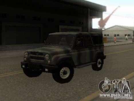 UAZ-3153 para GTA San Andreas vista hacia atrás