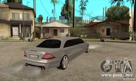Mercedes-Benz CL65 Limusine para la visión correcta GTA San Andreas