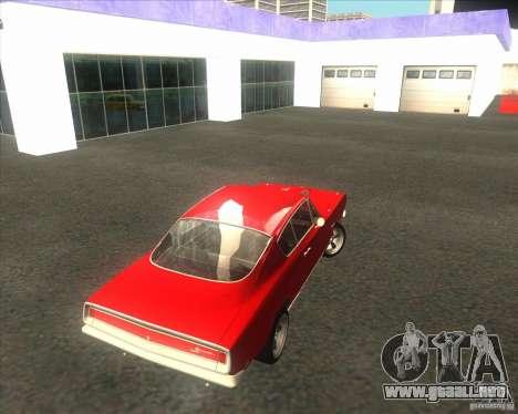 Plymouth Barracuda 1968 para visión interna GTA San Andreas