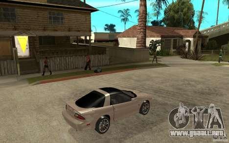 Chevrolet Camaro SS 2002 para la visión correcta GTA San Andreas