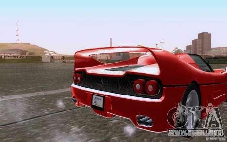 Ferrari F50 v1.0.0 1995 para GTA San Andreas vista hacia atrás