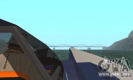 Powerboat para GTA San Andreas vista hacia atrás