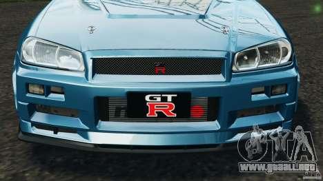 Nissan Skyline GT-R R34 2002 v1.0 para GTA 4 ruedas