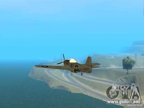 P-51 Mustang para la visión correcta GTA San Andreas
