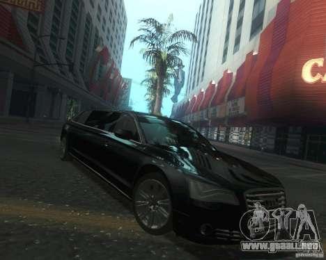 Audi A8 2011 Limo para GTA San Andreas vista hacia atrás