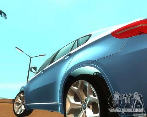 BMW Motorsport X6 M v. 2.0 para visión interna GTA San Andreas