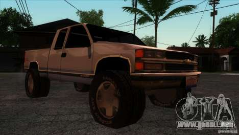 Chevrolet Silverado 1996 para GTA San Andreas vista hacia atrás