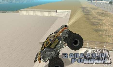 Monster Truck Maximum Destruction para GTA San Andreas vista hacia atrás