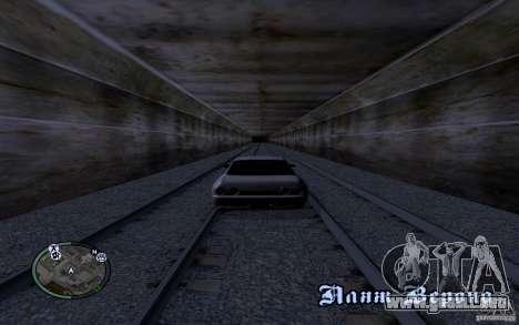 Rieles rusos para GTA San Andreas quinta pantalla