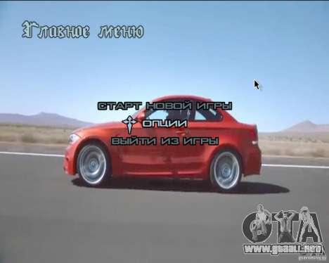 En el menú de video de fondo para GTA San Andreas segunda pantalla