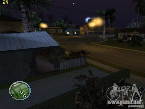 Autos rotas en la calle Grove para GTA San Andreas segunda pantalla