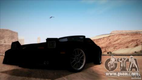 Pontiac Firebird Trans Am para vista lateral GTA San Andreas