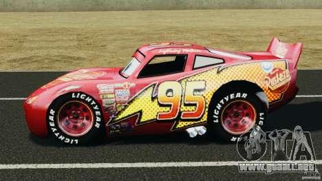 Lightning McQueen para GTA 4 left