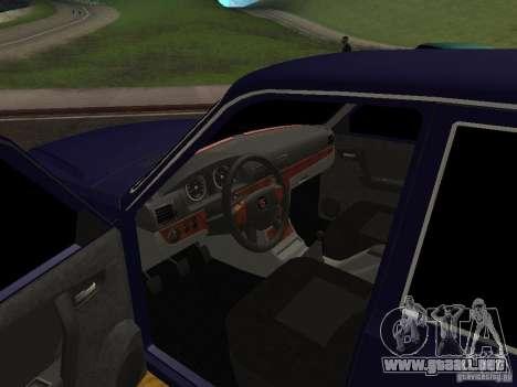 Volga GAZ 31105 restyling para GTA San Andreas vista hacia atrás