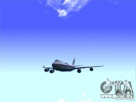 Boeing 747-400 Malaysia Airlines para la visión correcta GTA San Andreas