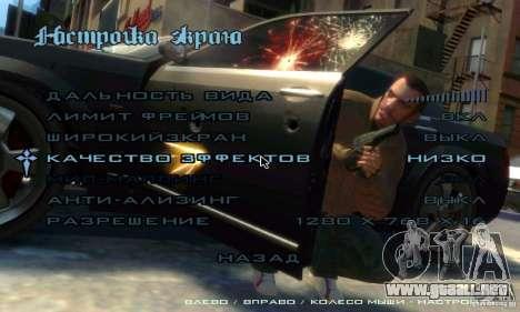 Menú al estilo de GTA 4 para GTA San Andreas tercera pantalla