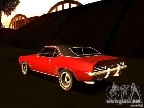 Chevrolet Camaro 1967 para GTA San Andreas left