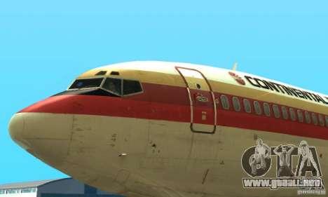 Boeing 707-300 para GTA San Andreas vista posterior izquierda