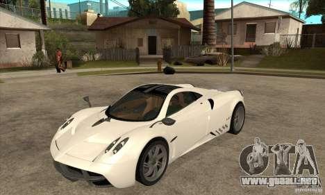 Pagani Huayra ver. 1.1 para GTA San Andreas left