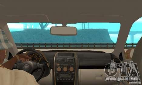 Lexus IS300 2005 para GTA San Andreas vista hacia atrás