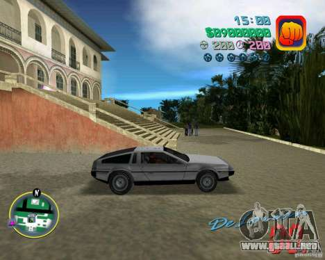 DeLorean DMC 12 para GTA Vice City vista lateral
