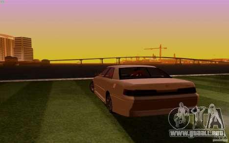 Toyota Mark 2 JZX100 para GTA San Andreas vista posterior izquierda