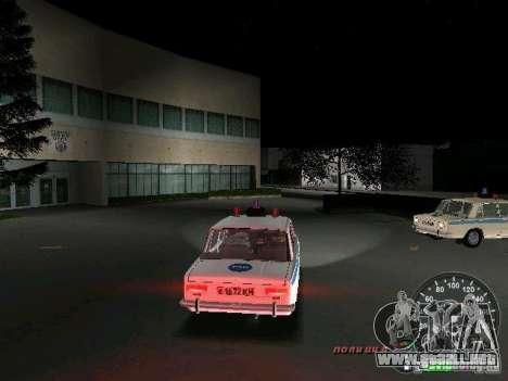 VAZ 2101 policía para GTA Vice City visión correcta