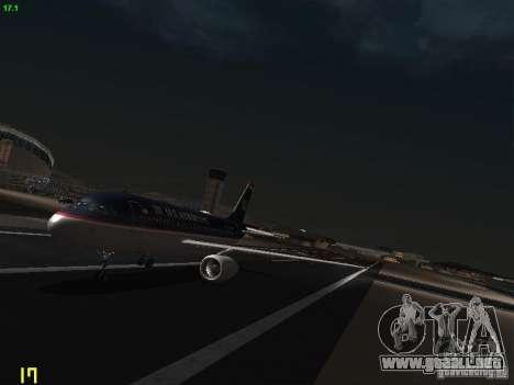 Airbus A319 USAirways para GTA San Andreas left