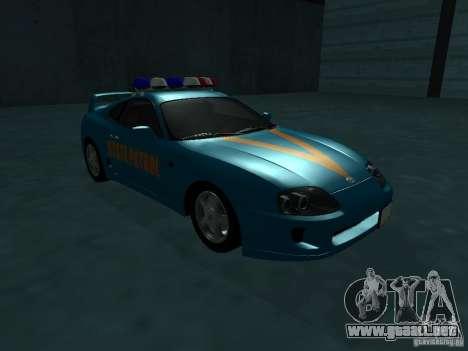 Toyota Supra California State Patrol para GTA San Andreas left