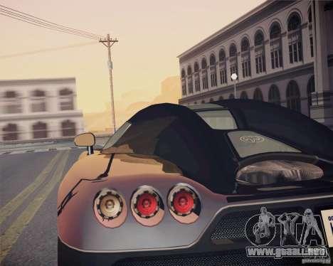 Koenigsegg CCX 2006 v2.0.0 para GTA San Andreas vista hacia atrás