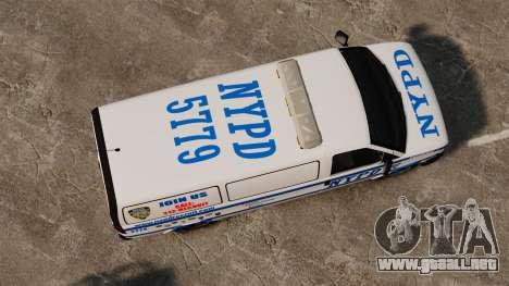 Policía Speedo para GTA 4 visión correcta