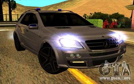 Mercedes-Benz ML63 AMG W165 Brabus para visión interna GTA San Andreas