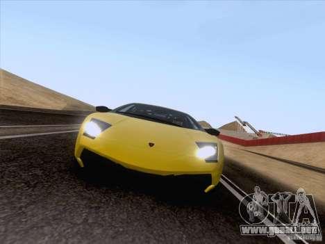 Lamborghini Murcielago LP670–4 SuperVeloce para GTA San Andreas vista posterior izquierda
