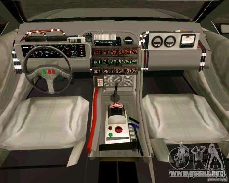 BTTF DeLorean DMC 12 para GTA Vice City left