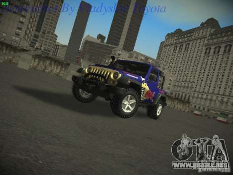 Jeep Wrangler Red Bull 2012 para GTA San Andreas