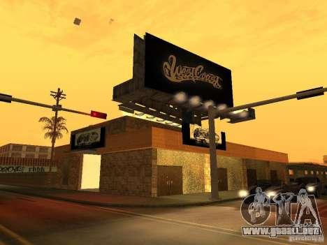 New PaynSpay: West Coast Customs para GTA San Andreas segunda pantalla