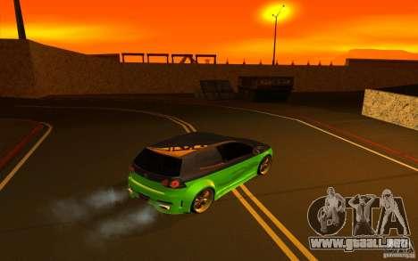 Volkswagen Golf V R32 Custom para visión interna GTA San Andreas