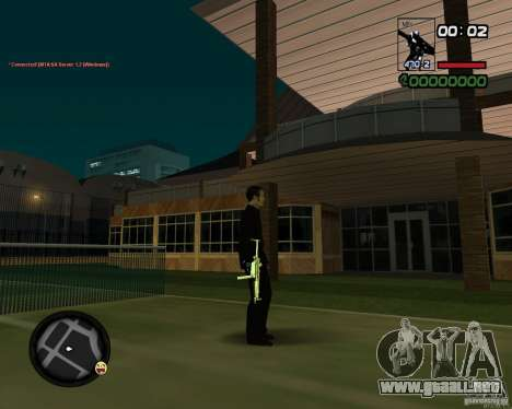 MP5 Gold para GTA San Andreas tercera pantalla