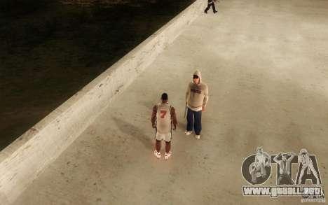 Sombras mais fortes em pedestres para GTA San Andreas quinta pantalla