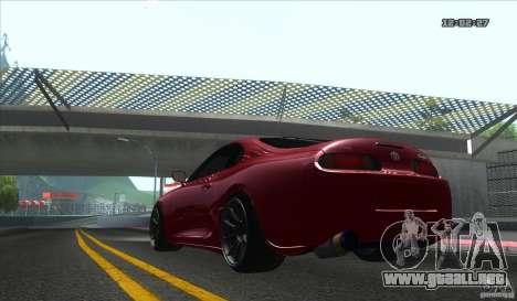 Toyota Supra Stance para la visión correcta GTA San Andreas