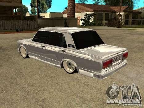 VAZ 2107 Convertible para la visión correcta GTA San Andreas